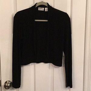 Chico's black short knit jacket